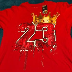 Red 23 Michael Jordan T-shirt for Men